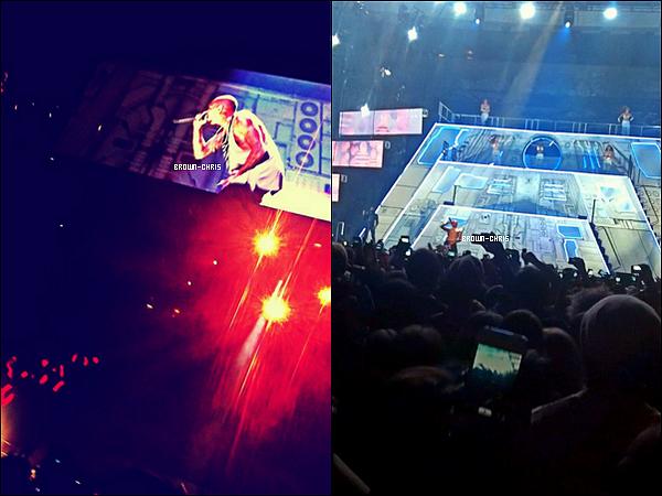 - 19 NOV. : Chris était au Ericsson Globe à Stockholm pour l'un des concerts de sa tournée. (Suède)  -