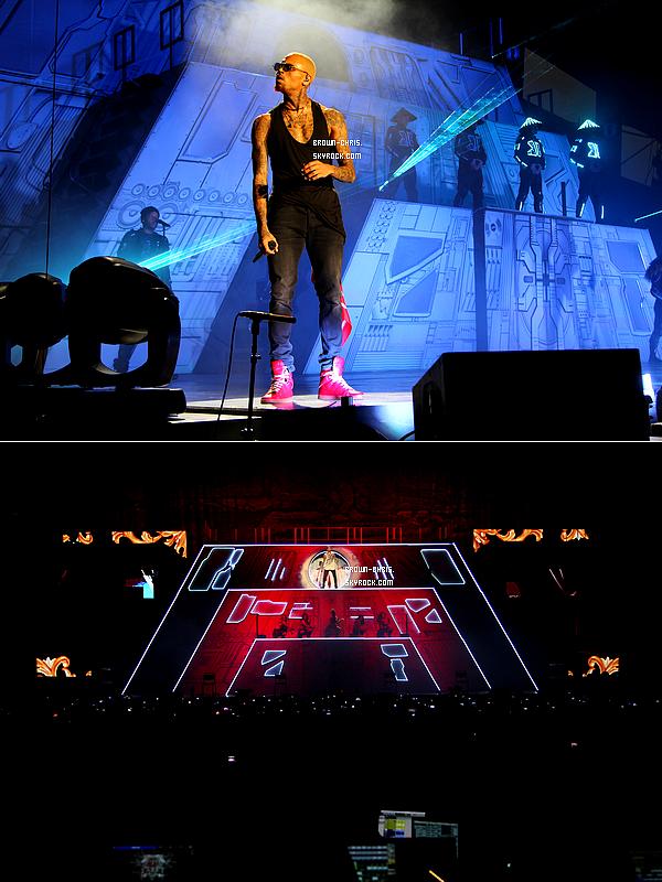 - 09 DEC. : Chris était de nouveau à Bercy pour l'un des concerts de sa tournée. (France)  -