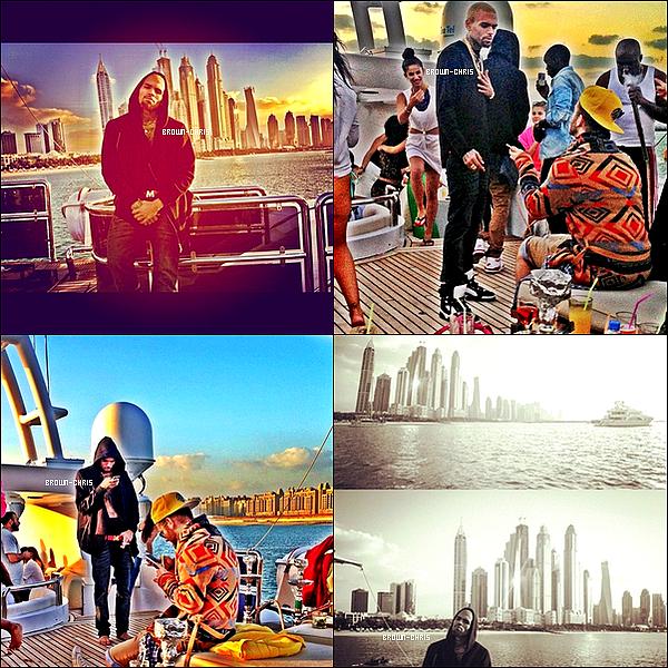 - Voici les dernières photos postées sur Instagram, elles ont été prises à Dubaï lors du séjour de Chris pour l'un de ses concerts. -