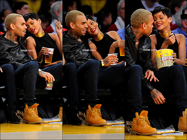 - 25 DEC. : Chris a été aperçu en compagnie de Rihanna, au Staples Center, où ils assistaient à un match de basket opposant les Lakers de LA aux Knicks de NY. (Los Angeles) TOP/FLOP ? -