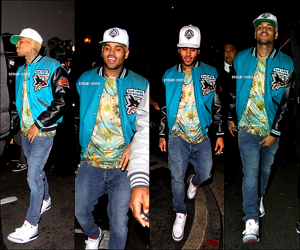 . 03 JANV. : Chris a été aperçu à la sortie du Roxbury Nightclub. (Los Angeles) TOP/FLOP ? -