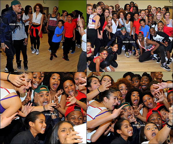 . 09 FEV. : Chris a rendu visite aux enfants/adolescents de l'académie de danse de Debbie Allen. (Los Angeles) TOP/FLOP ? -