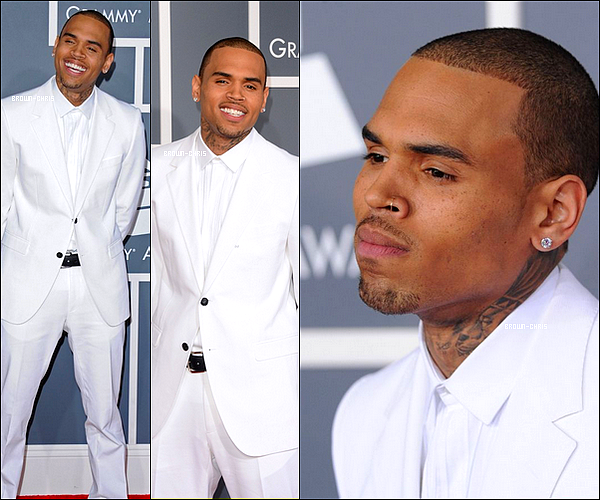 . 10 FEV. : Chris sur le red carpet de la 55 ème cérémonie des Grammy Awards. (Los Angeles) TOP/FLOP ? -
