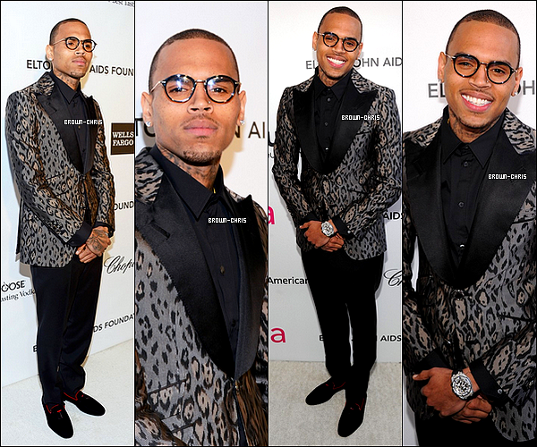 . 24 FEV. : Chris était présent à la soirée caritative, after party des Oscars également, de Sir Elton John. (Los Angeles)TOP/FLOP ? -
