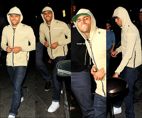 . 6 AVR. : Chris a été aperçu au Playhouse Nightclub ! (Los Angeles) -