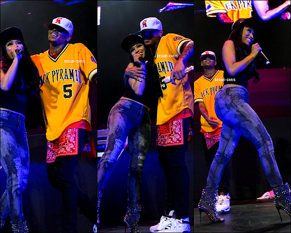 . 26 MAI. : Chris était présent au festival Powerhouse 2013, organisé par la radio Power 106. Il a fait plusieurs performances notamment sur Fine China, Beat It et Take It To The Head en compagnie de Nicki Minaj. (L.A) -