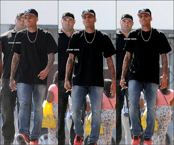 . 02 AOUT. : Chris sur le tournage de Love More. Pour info c'est lui qui va réaliser le clip ! (Los Angeles)  -