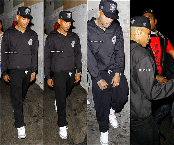 . 05 AOUT. : Chris aperçu quittant le Eden Nightclub ! (Los Angeles)  -
