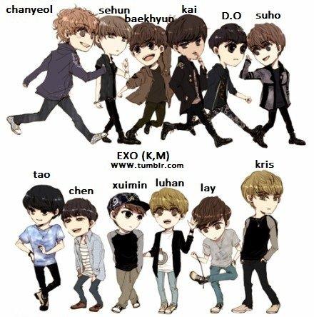 Exo K and M fan art <3