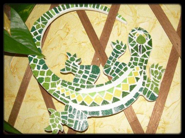Mosaïque - Pâte de Verre - Le Lézard Vert