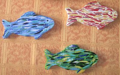 Mosaïque - Petits poissons deviendront grands . . . . . .