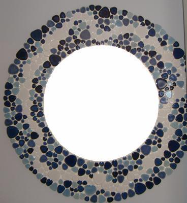 Mosaïque - Miroir Galet Japonais Mosaïque