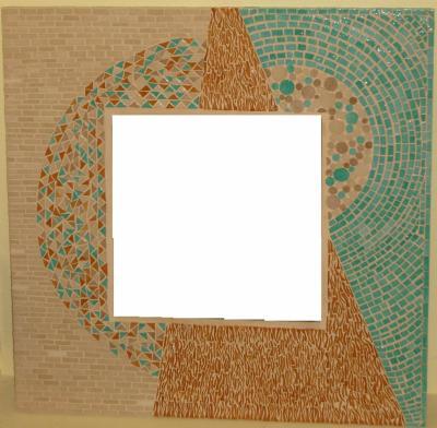 MIROIR Mosaïque Motif Géométrique