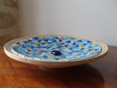 Mosaïque - Coupelle Bleue