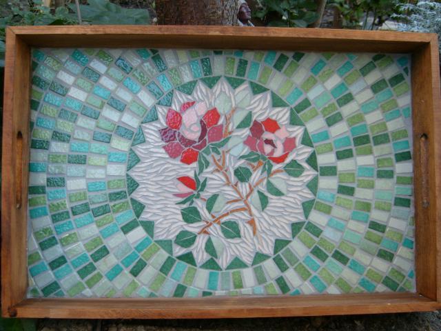 Le Plateau à la Rose - Mosaïque Emaux de Briaire -