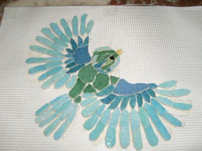"""MOSAIQUE """"L'Oiseau Bleu"""""""