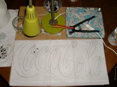 "Plateau Mosaïque ""Coca Cola"""