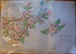 Plaque de Rue - Mosaique - Emaux de Briare -