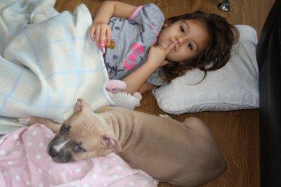 ma fille et son nouveau nounours