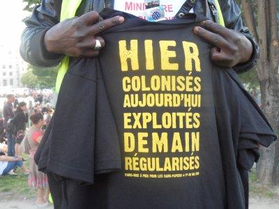 La Marche Des Travaillieurs Sans Papiers / Paris-Nice