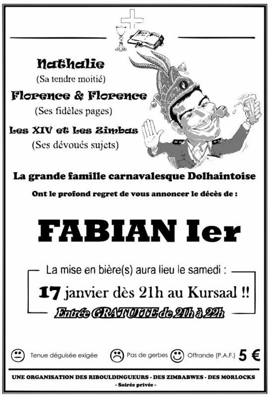 Soirée Enterrement Fabian Ier - 17.01.15