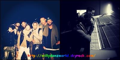 Deux nouvelles photos de Willy Denzey en studio le Lundi 20 Janvier 2014
