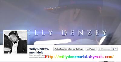 Création d'une page fan de Willy Denzey sur Facebook