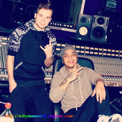 Willy Denzey et Ma2x en studio le 16 Février 2014