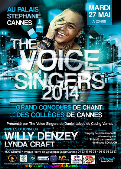Affiche pour les Voice Singers à Cannes le Mardi 27 Mai 2014 à 20h au Palais Stéphanie