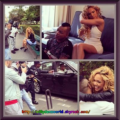 """Tournage pour la cover """"All Of Me"""" de John Legend à Paris le 28 Avril 2014"""