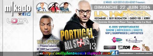"""Willy Denzey au Mikado à Paris pour le """"Portugal All Stars"""" le Dimanche 22 Juin 2014"""