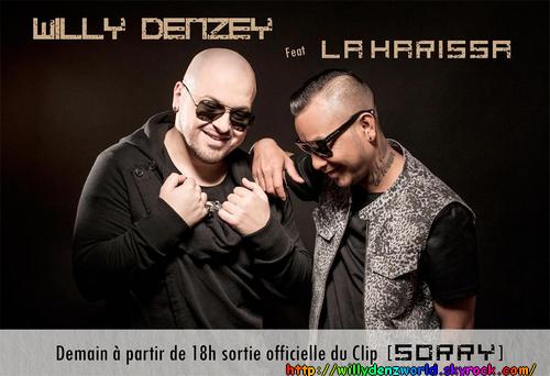 """Mise en ligne du clip 'Sorry"""" de Willy Denzey avec La Harissa à 18h le Mercredi 28 Mai 2014"""