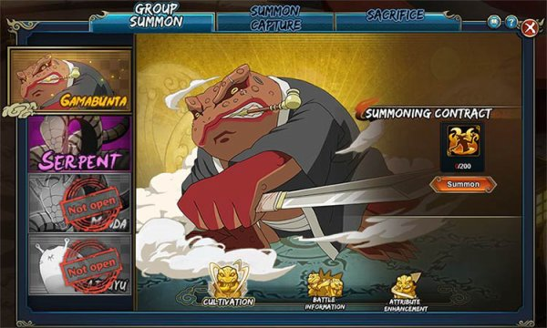 Naruto online group summons