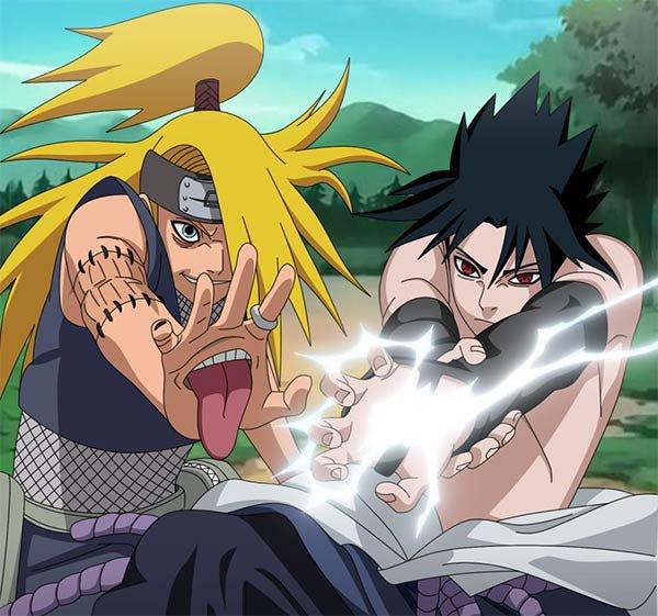 Deidara VS Sasuke