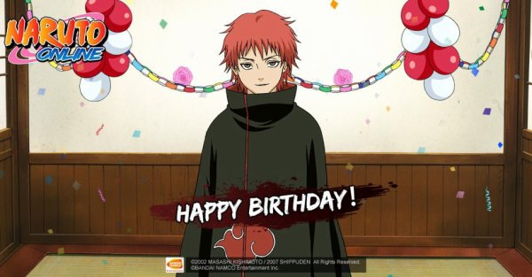 Happy Birthday, Sasori!