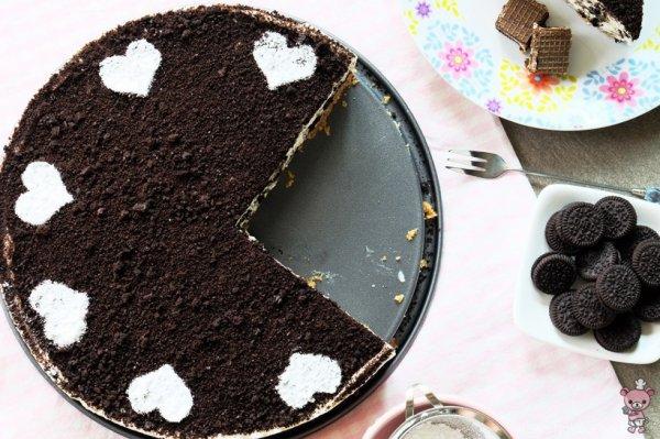 Cheesecake sans cuisson aux biscuits au chocolat