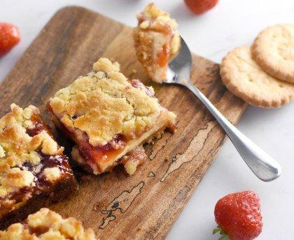 Square fraises-crumble
