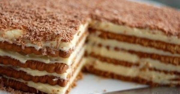 Gâteau aux petits-beurres parfum café