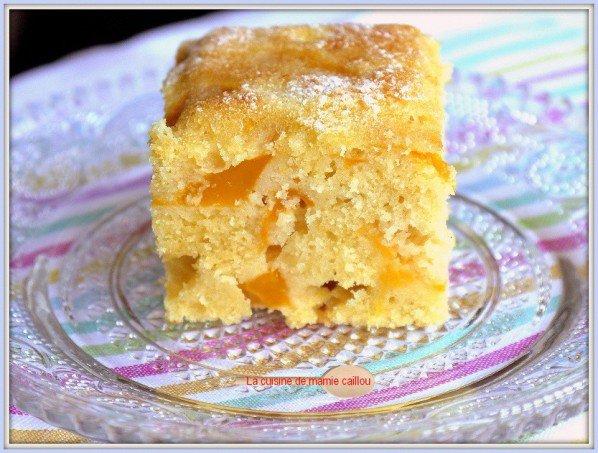 Gâteau antillais, mangue et vanille