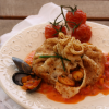 Aumônières à l'italienne de moules