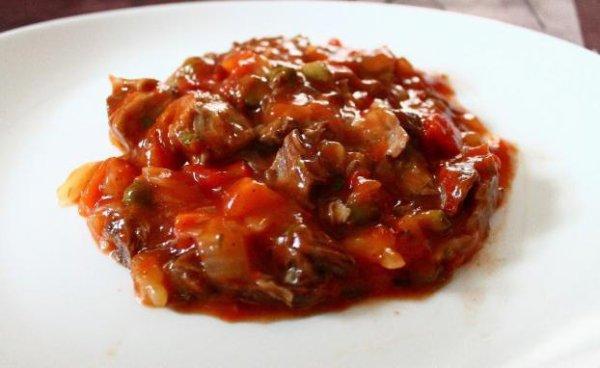 B½uf miroton sauce tomate