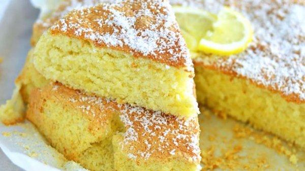 Gâteau nuage citron et noix de coco