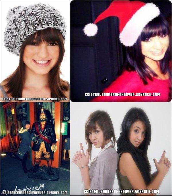 """. .  Je vous poste des photos de Kristen, qui ne sont pas forcément récente, sauf celle où elle a le bonnet """"Père Noël."""" Donnez moi tous vos avis, ils m'intéressent ! (:  Je vous souhaite de joyeuses fêtes :D ♥ . ."""