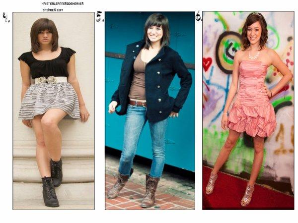 . .  Nouvelles photos de Kristen. Enfin, nouvelles... certaines datent un peu, mais elle les a postée avec un tweet avec, donc je vous les mets. (: Plus, un petit montage de plusieurs tenues de Kristen, choisissez laquelle vous préférez. :D + AUJOURD'HUI C'EST L'ANNIVERSAIRE DE KRISTEN :D  . .