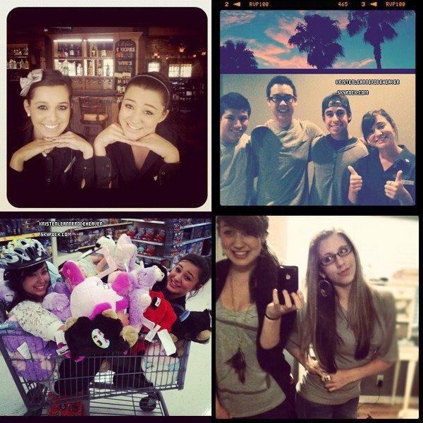 Kristen sur Instagram ! Je vous ai fais un regroupement de toutes les photos qu'elle a postées. :)  Et désolé pour le retard, vraiment..