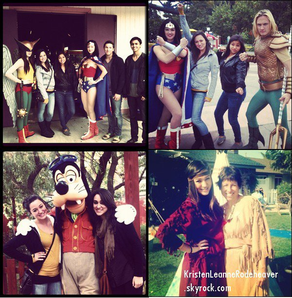 .  Voici les dernières photos que Kristen a posté sur son compte Instagram. :) Sur les quatre premières photos, elle est avec ses grands parents, et sur le reste, elle est ( encore ) à Disneyland. Et les trois dernières photos sont à part. Et vraiment désolé pour le retard ! :$  .