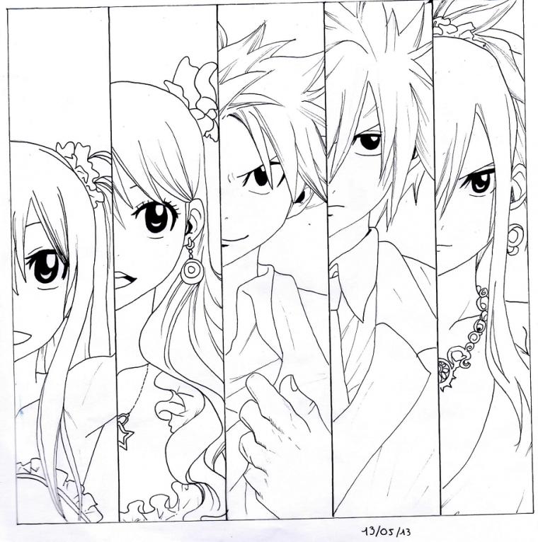 Wendy, Lucy, Natsu, Grey et Erza !!!