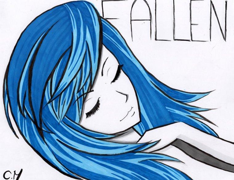 La fille qui avait des cheveux bleu