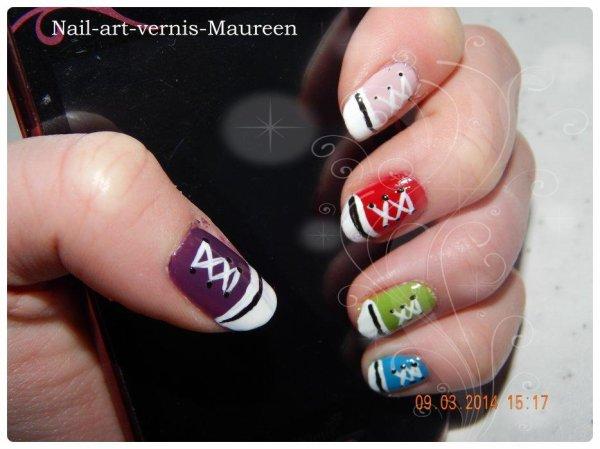 Nail art : Converse.
