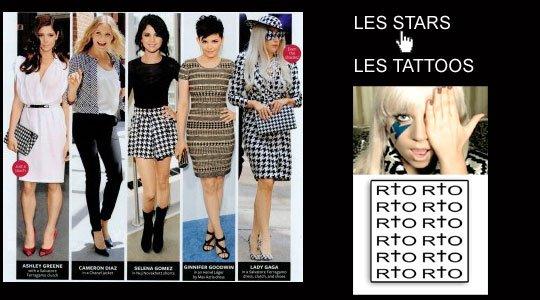 Les stars Tattoos !!!   http://www.tarawa.com/vedettes-et-stars-tattoos-temporaires,c287/